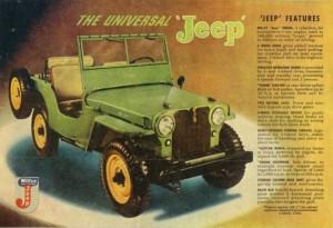 Στην διάρκεια 1941-1945 η Willys-Overland σε συνεργασία με την Ford κατασκεύασαν περισσότερα από 680.000 αυτοκίνητα τα οποία υπηρέτησαν στον Β' Παγκόσμιο Πόλεμο.