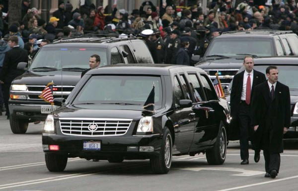 Cadillac DTS Limousine At the Presidential Inaugural Parade