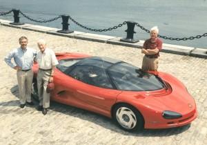 Dave Hill, Zora Arkus, Dave McCellan With Corvette Concept