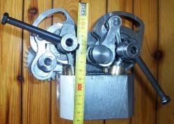 Σύστημα DVVA για μονοκύλινδρο. Παρατηρείστε πως το συνολικό ύψος δεν ξεπερνά τα 140 mm.