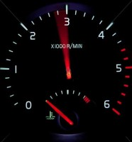 tachometer-while-speeding-up