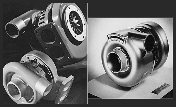 Turbocharger history- 1952 on the right and 1962 on th left from Borg Warner