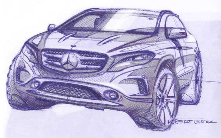 Photo of Επίσημα σκίτσα για την Mercedes-Benz GLA!