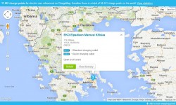 13 603 charge points for electric cars referenced on ChargeMap
