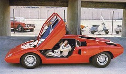 1972 - Bob Wallace prepares to take the prototype LP400