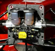 Ferrari F2008 zero keel brake master cylinders