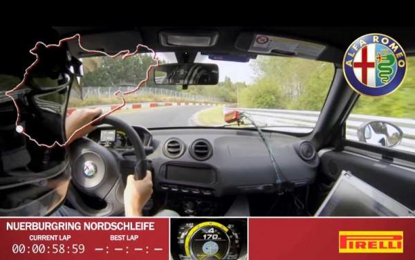 Alfa Romeo 4C Νürburgring Lap Run