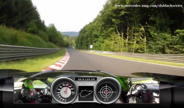 SLS AMG Coupé Black Series on the Nordschleife