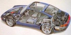 Porsche 993-CUTAWAY