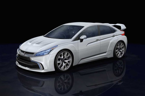 next Mitsubishi Evo will be diesel hybrid with two electric motors