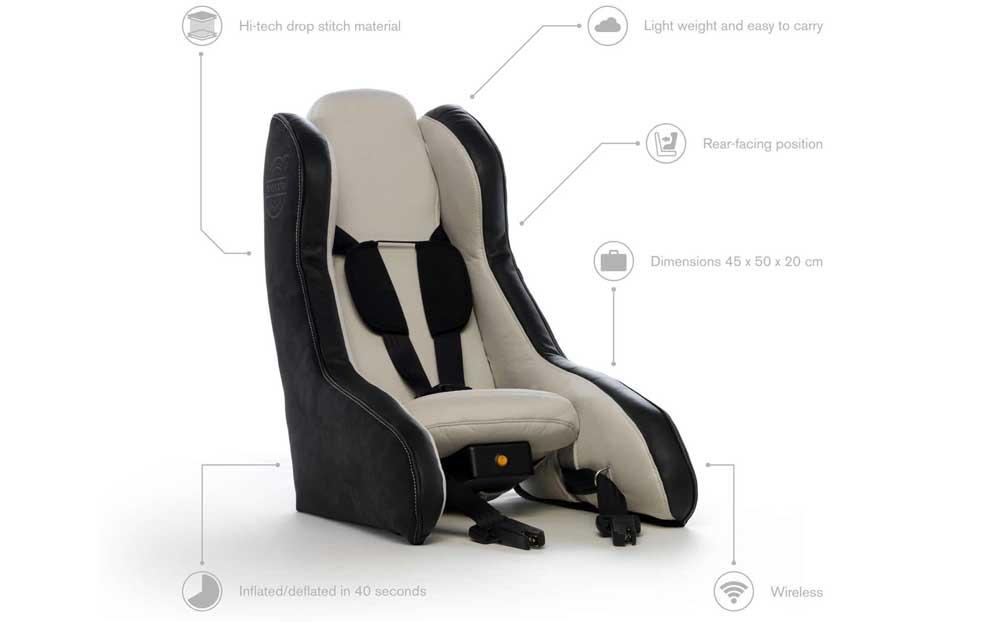 Photo of Φουσκωτό παιδικό κάθισμα από την Volvo.