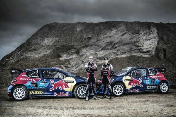 Rallycross track in Dreux - 2014 Timmy Hansen and Timur Timerzyanov
