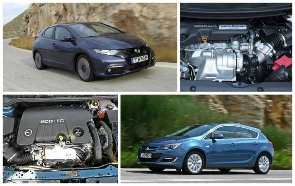Honda Civic iDTEC vs Opel Astra CDTi caroto test drive