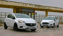 Ford Fiesta vs Opel Corsa caroto test drive 2015 (54)