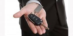 Handing over the car key