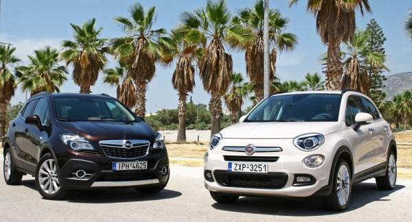 Fiat 500X vs Opel Mokkas caroto test drive 2015 (22)