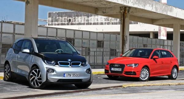 Audi e-tron vs BMW i3 Rex caroto test drive 2015 (33)