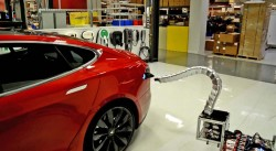 Charger prototype finding its way to Model S (HD)