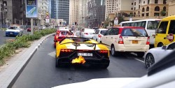 Lambo Aventador Roadster 50 Anniversario Catches Fire In Dubai