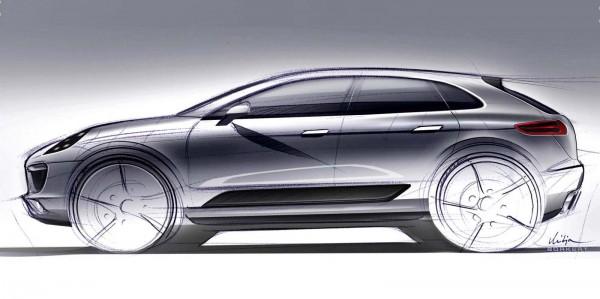 Porsche Macan compact SUV design sketch