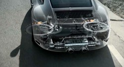 Porsche demonstrates 911 Carrera rear axle steering system