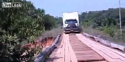TRUCK-CROSSES-BRIDGE