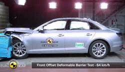 Audi A4 obtains five-star rating in Euro NCAP crash test