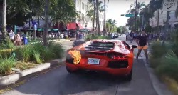 Lamborghini Aventador On Fire After Taking It For A Joy Ride In Miami 1000