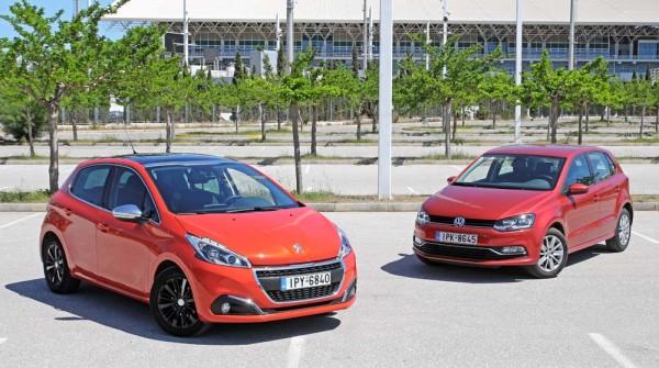 Peugeot 208 vs VW Polo caroto test drive 2016 (2)