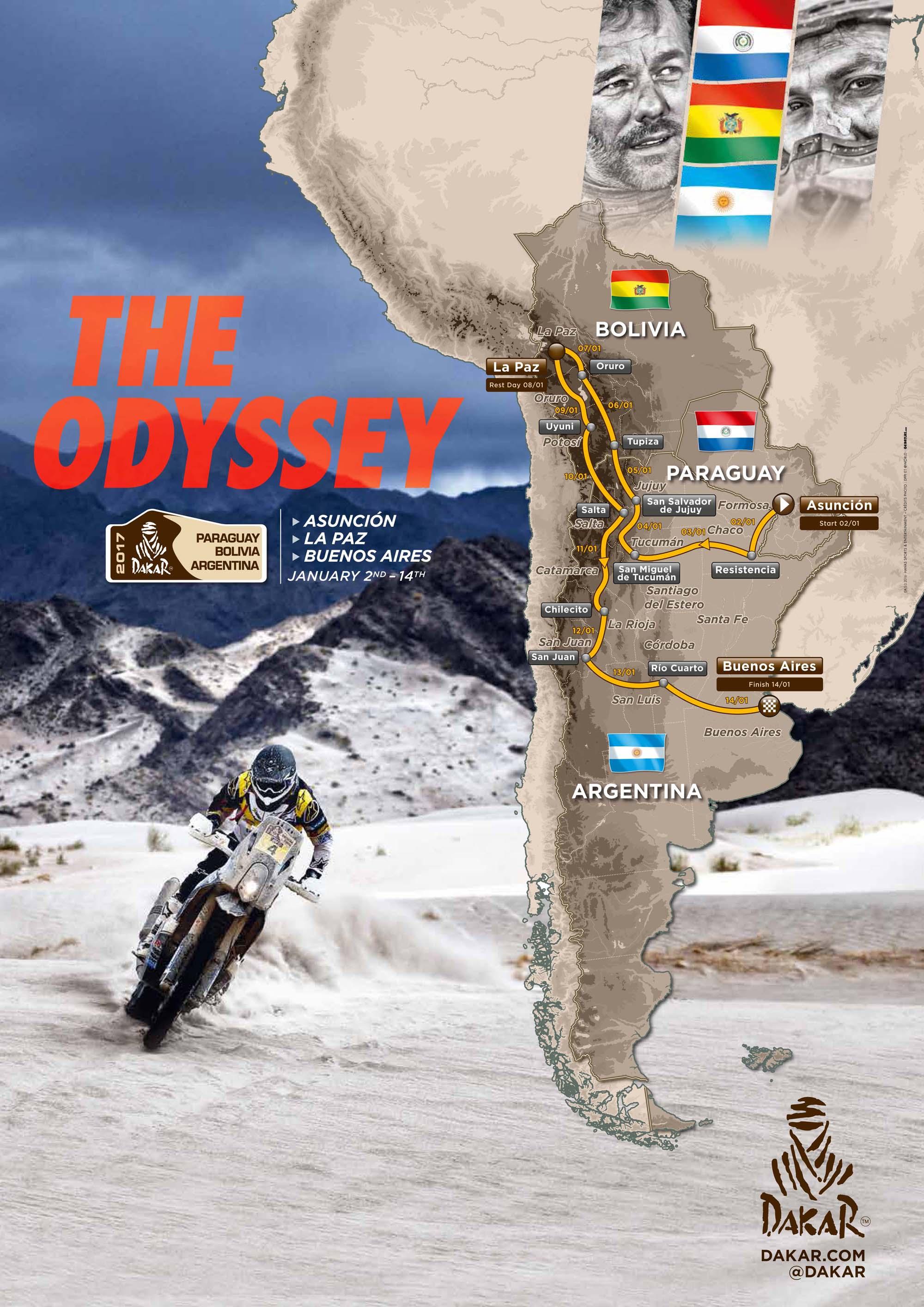 Dakar 2017 Map Route