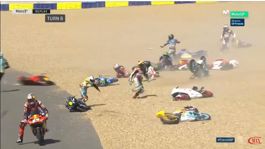 Photo of Απίστευτο συμβάν σε αγώνα κατηγορίας Moto3 στην Γαλλία [vid[