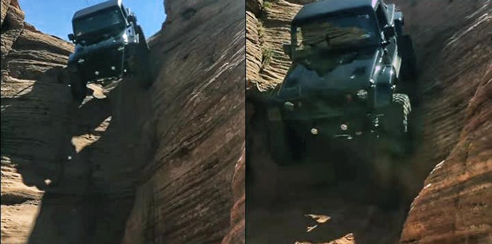 Photo of Ένα Jeep σε ελεύθερη κατάβαση [vid]