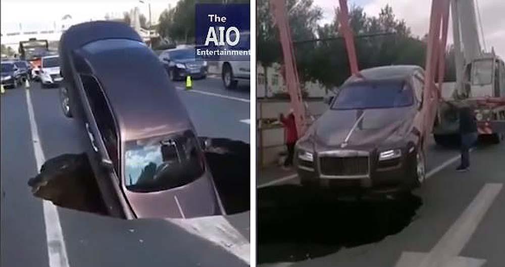 Photo of Τρύπα στο δρόμο κατάπιε μια Rolls Royce! [vid]
