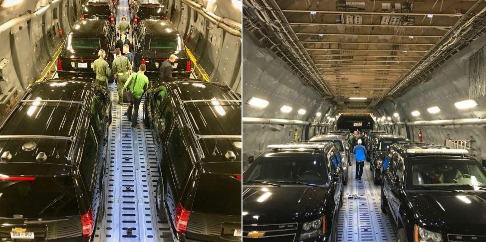 Photo of Πως μεταφέρεται η θωρακισμένη λιμουζίνα του Trump;