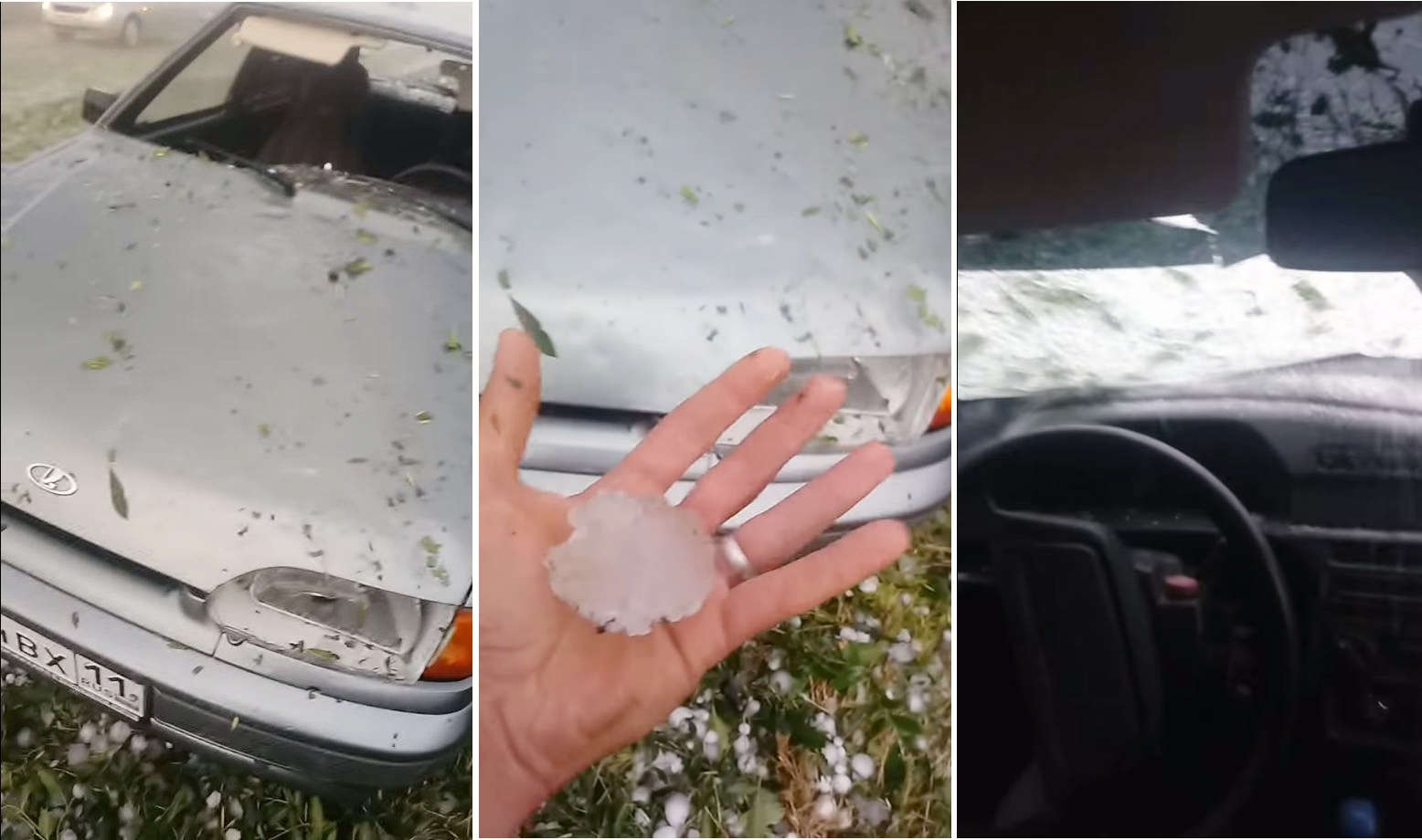 Photo of Χαλάζι σε μέγεθος ροδάκινου καταστρέφει ένα αυτοκίνητο [vid]