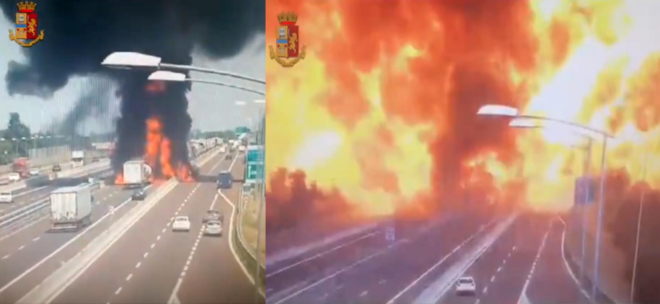 Photo of Ατύχημα με έκρηξη βυτιοφόρου σε αυτοκινητόδρομο στην Μπολόνια [vid]