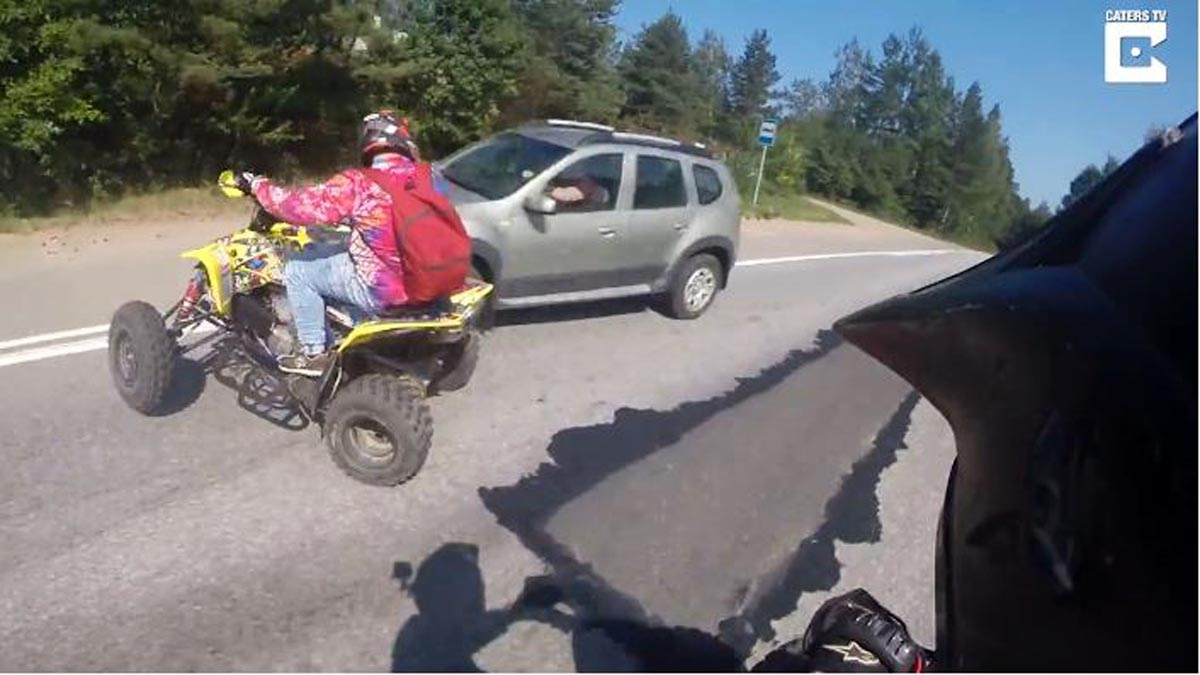 "Photo of Τυχερός στην ατυχία του αναβάτης ATV ""γουρούνας"" [vid]"