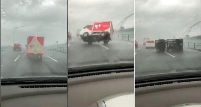 Photo of Τυφώνας ανατρέπει στην Ιαπωνία φορτηγό [vid]