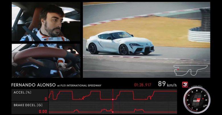 Photo of O Fernando Alonso πίσω από το τιμόνι της Toyota Supra [vid]