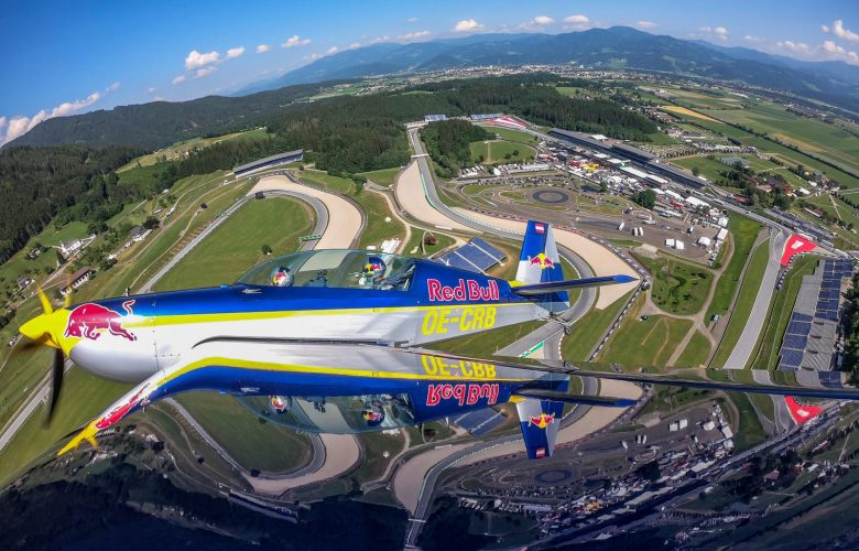 Aston Martin Red Bull Racing driver Pierre Gasly of France and Air Race World Champion Martin Sonka of the Czech Republic seen during a flight experience in an Extra 300L double seater aerobatic plane prior to the 2019 Austria Grand Prix at Spielberg, Styria, Austria. // Joerg Mitter / Red Bull Content Pool // AP-1ZS89FN7S1W11 // Usage for editorial use only // Please go to www.redbullcontentpool.com for further information. //