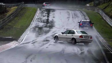 Photo of Δείτε εντυπωσιακά «ανάποδα» και απίστευτα «ευτράπελα» στο βρεγμένο Nürburgring [vid]