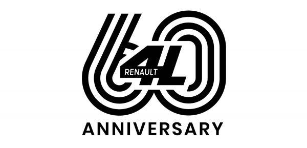 1 2021 ANNIVERSARY LOGO 60 YEARS RENAULT 4L