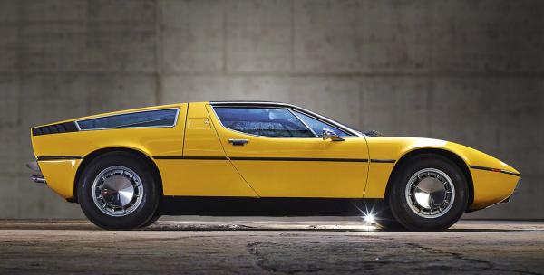 Yellow Maserati Bora