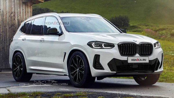 facelifted bmw x3 unofficial renderings 1