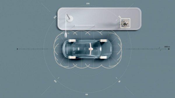 283466 Sensors on electric successor to XC90 Ultrasonics